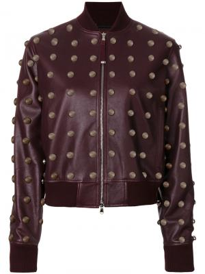 Куртка с заклепками Diesel Black Gold. Цвет: красный