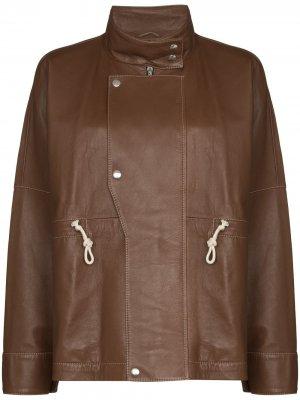 Куртка с кулиской Plan C. Цвет: коричневый