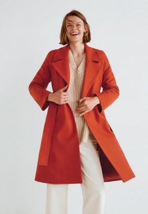 Пальто Mango MA002EWCSLO8. Цвет: оранжевый