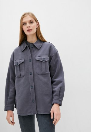 Рубашка Max Mara Leisure ZIGANO. Цвет: серый