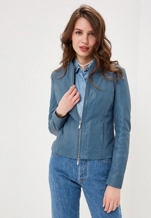 Куртка кожаная Arma. Цвет: синий