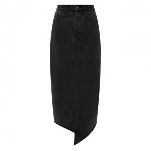 Джинсовая юбка Ksubi. Цвет: серый