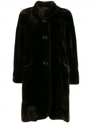 Шуба 1980-х годов свободного кроя Pierre Cardin Pre-Owned. Цвет: коричневый
