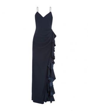 Длинное платье BADGLEY MISCHKA. Цвет: темно-синий