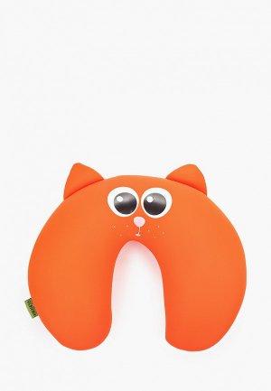 Подушка Gekoko для самолета. Цвет: оранжевый