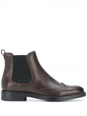 Tods ботинки челси с брогированием Tod's. Цвет: коричневый