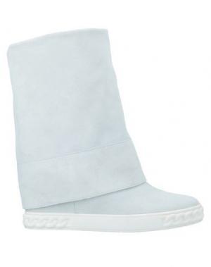 Полусапоги и высокие ботинки CASADEI. Цвет: белый