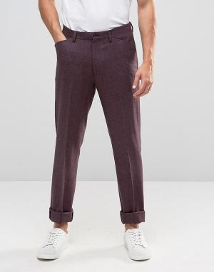 Фиолетовые классические брюки слим ASOS. Цвет: фиолетовый