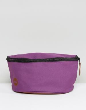 Классическая сумка-кошелек на пояс фиолетового цвета Mi-Pac. Цвет: фиолетовый