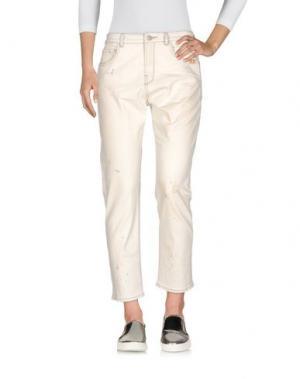 Джинсовые брюки-капри SCOTCH & SODA. Цвет: слоновая кость