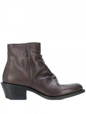 Ботинки на молнии Fiorentini + Baker. Цвет: коричневый