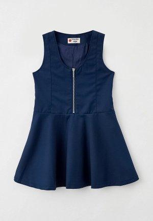 Сарафан Button Blue. Цвет: синий