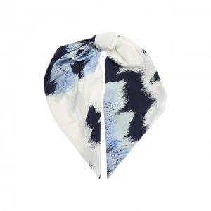 Шелковый платок St. John. Цвет: синий