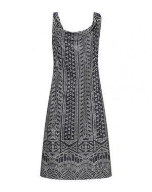 Платье до колена ANTONIO BERARDI. Цвет: темно-синий