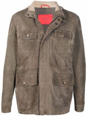 Куртка на молнии Isaia. Цвет: зеленый