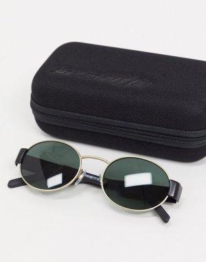 Круглые солнцезащитные очки в черном/золотом цвете -Черный Arnette
