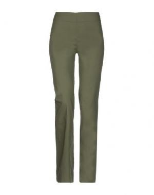 Повседневные брюки PF PAOLA FRANI. Цвет: темно-зеленый
