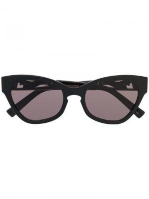 Солнцезащитные очки в массивной оправе кошачий глаз Le Specs. Цвет: черный