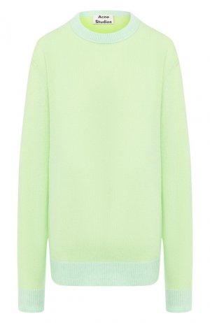 Кашемировый пуловер Acne Studios. Цвет: зеленый