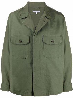 Куртка-рубашка с карманами Engineered Garments. Цвет: зеленый