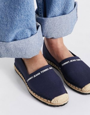 Темно-синие текстильные эспадрильи с логотипом -Темно-синий Tommy Jeans