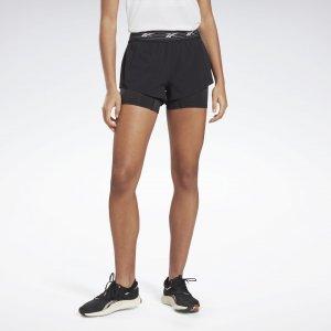 Спортивные шорты Running Epic Two-in-One Reebok. Цвет: black