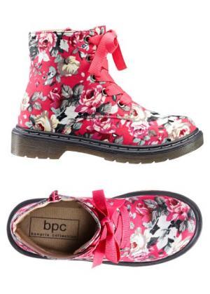 Ботиночки (красный в цветочек) bonprix. Цвет: красный в цветочек