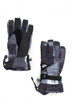 Перчатки горнолыжные Quiksilver Mission Glove. Цвет: серый