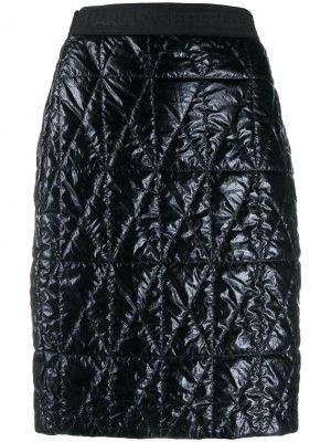 Стеганая юбка Karl Lagerfeld. Цвет: черный