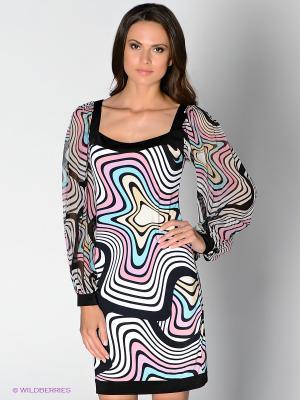 Платье Analili. Цвет: белый, черный, бледно-розовый