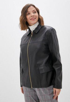 Куртка кожаная Balsako. Цвет: черный