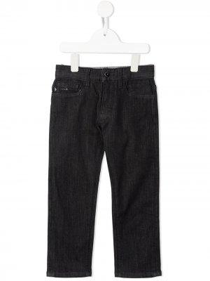 Прямые джинсы Emporio Armani Kids. Цвет: черный