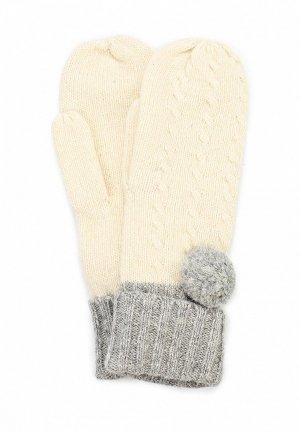 Варежки Baon BA007DWCFY55. Цвет: бежевый, серый