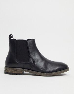 Черные ботинки в строгом стиле -Черный цвет Dune
