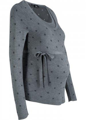 Пуловер для беременных и кормящих мам bonprix. Цвет: серый