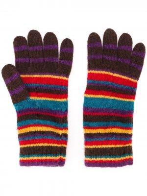 Перчатки в полоску PAUL SMITH. Цвет: разноцветный