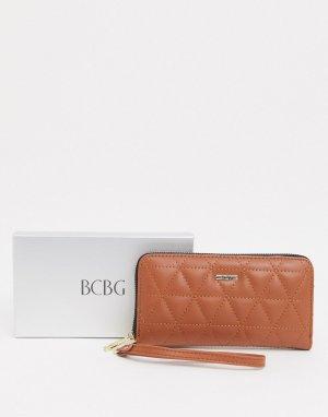 Стеганый бумажник в подарочной упаковке -Черный BCBGeneration