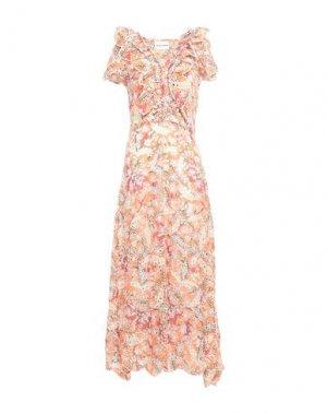 Длинное платье ANTIK BATIK. Цвет: коралловый
