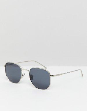 Круглые солнцезащитные очки L206SPC-Серебряный Lacoste