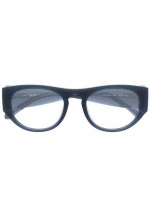 Очки в квадратной оправе Calvin Klein Jeans. Цвет: синий