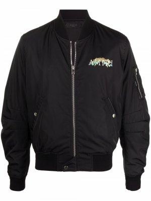 Logo-print bomber jacket AMIRI. Цвет: черный