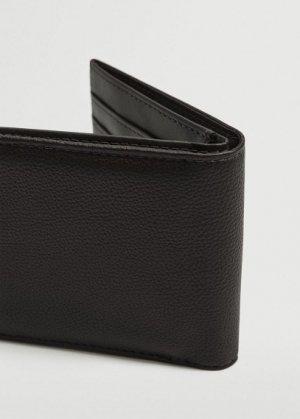 Бумажник с фактурной выделкой - Claelas Mango. Цвет: черный