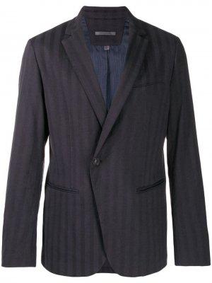 Пиджак асимметричного кроя с одной пуговицей John Varvatos. Цвет: синий