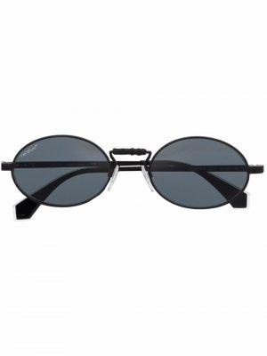 Солнцезащитные очки Cape Off-White. Цвет: серый