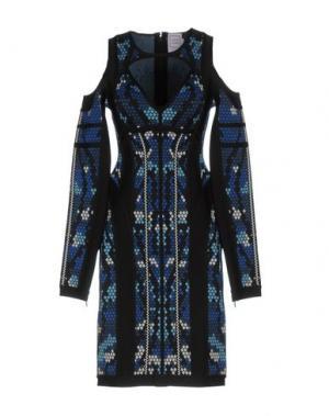 Короткое платье HERVÉ LÉGER. Цвет: синий