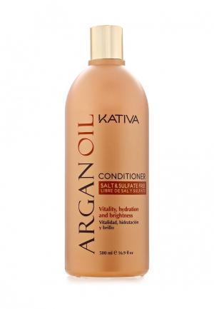Кондиционер для волос Kativa Увлажняющий с маслом Арганы, 500 мл. Цвет: белый