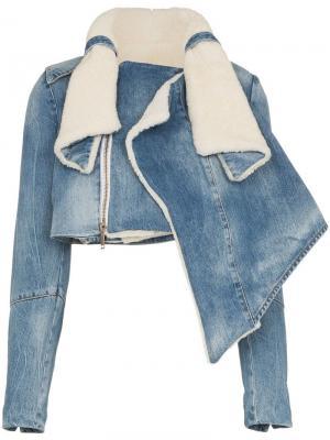 Джинсовая куртка с отделкой из овчины Unravel Project
