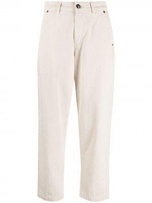 Прямые джинсы с завышенной талией Semicouture. Цвет: нейтральные цвета