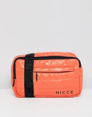 Оранжевая стеганая сумка-кошелек на пояс -Оранжевый Nicce