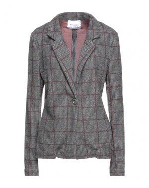 Пиджак BRAND UNIQUE. Цвет: серый